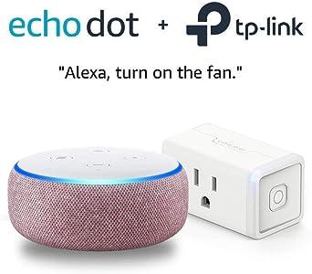 Echo Dot (3rd Gen) Plum Bundle with TP-Link simple set up smart plug