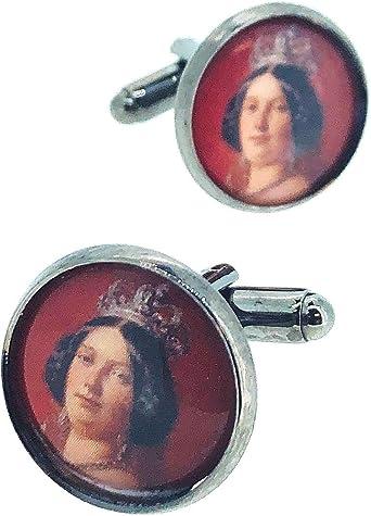 Gemelos para Camisa Isabel II Reina de España: Amazon.es: Ropa y accesorios