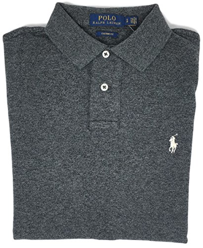 Polo Ralph Lauren Men Custom Fit Mesh Pony Logo Shirt (M, - Polo Ralph And Lauren