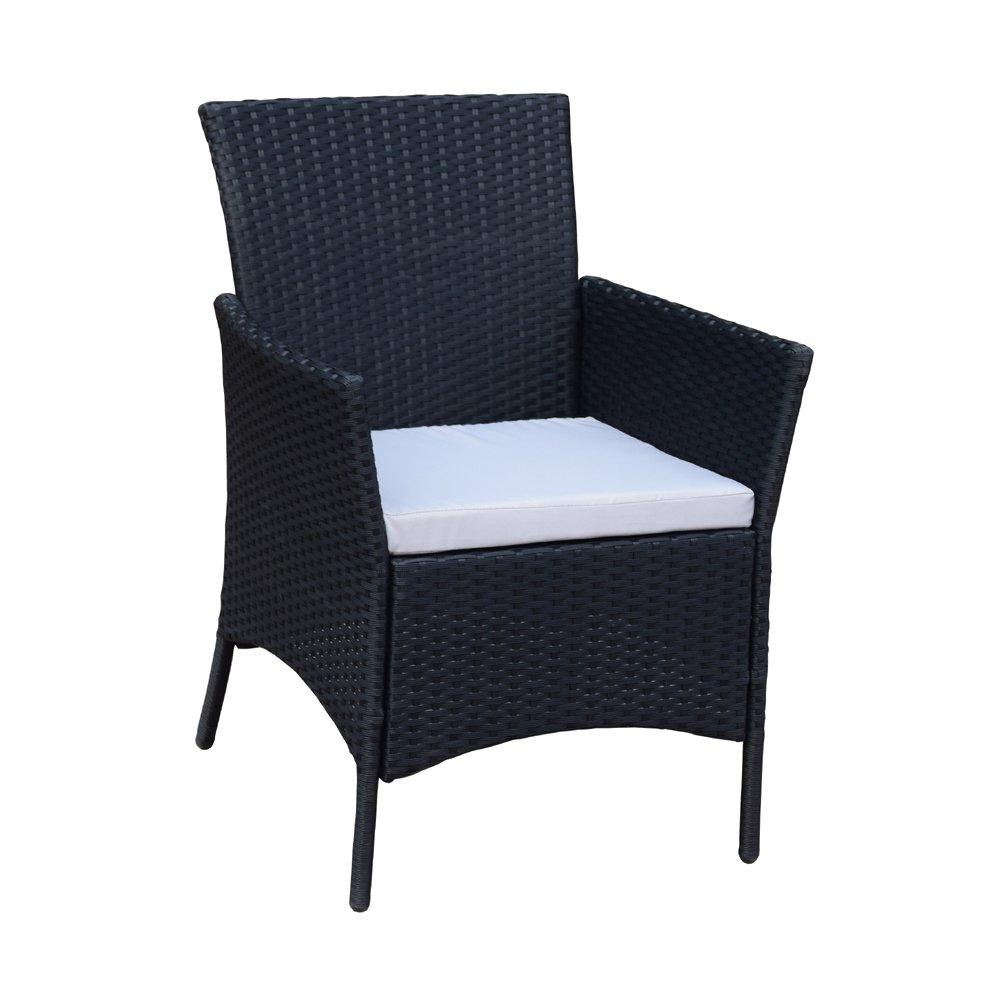 Sj 3 Teiliges Polyrattan Gartenmobelset Tisch Stuhl Balkonmobel Set