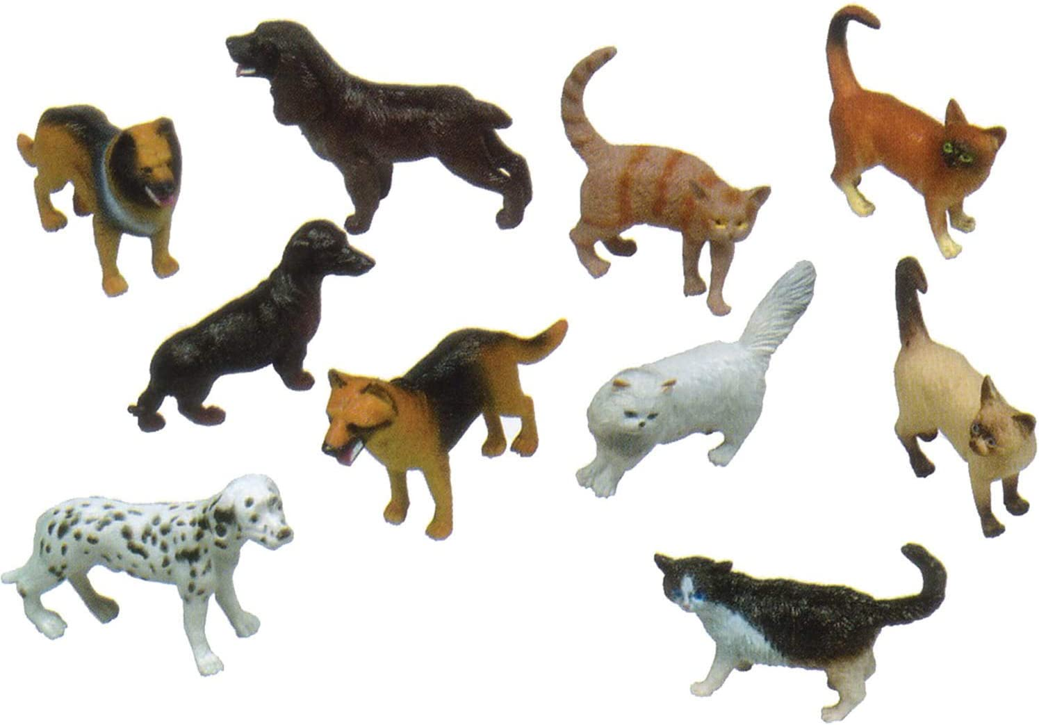 Simulation Mini Pets Figure Model Toy Cat Dog Figurines Playset Kids Gift