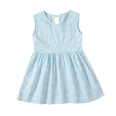bfc4b093886e7 Felicy Newborn Toddler Infant Baby Girls Summer Dress Kids Girl Sleeveless Floral  Print Sleeveless Princess Dresses