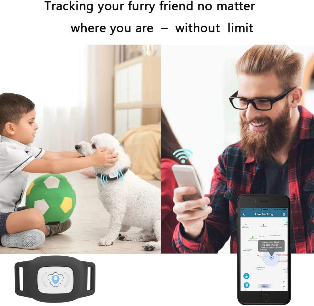 Cat Dog Tracking Device with Unlimited Range BARTUN GPS Pet Tracker