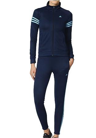 adidas Teamsport Suit Chandal, Mujer, Azul (Azuvap/Maruni), XL ...