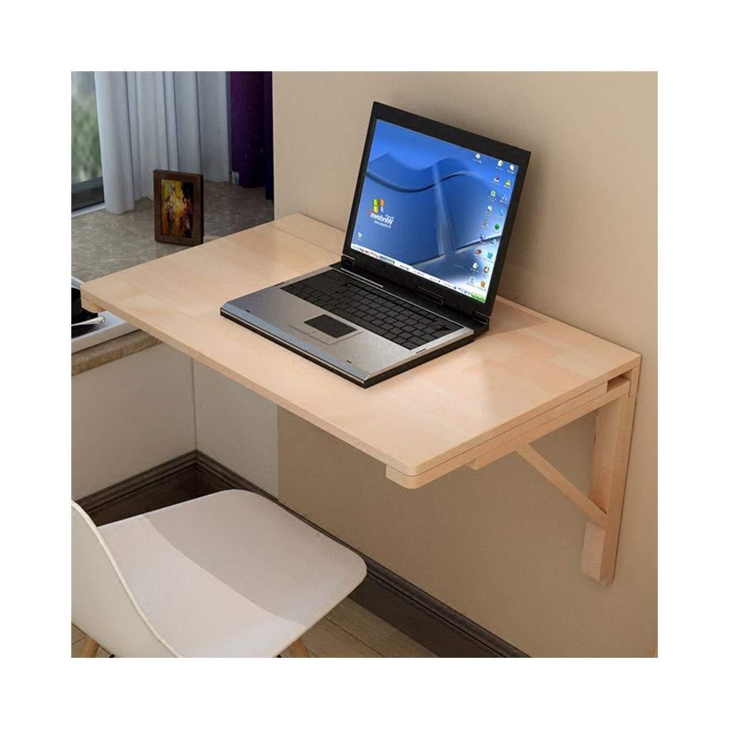 LQQFF Tavolo da Pranzo in Legno massello, scrivania per Computer Pieghevole, Semplice scrivania da Ufficio, (colore   A, Dimensioni   50  30cm)