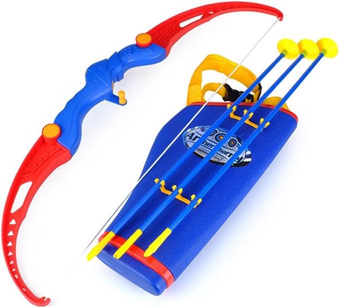 WEIZQ Arc et Fl/èche en Plastique Mous Sucker Fl/èche Tir /à larc Tir /à larc Toy Set Cible avec Support pour Enfants Adolescent Jeu en Plein Air Pelouse Jeu Jeu Amusant