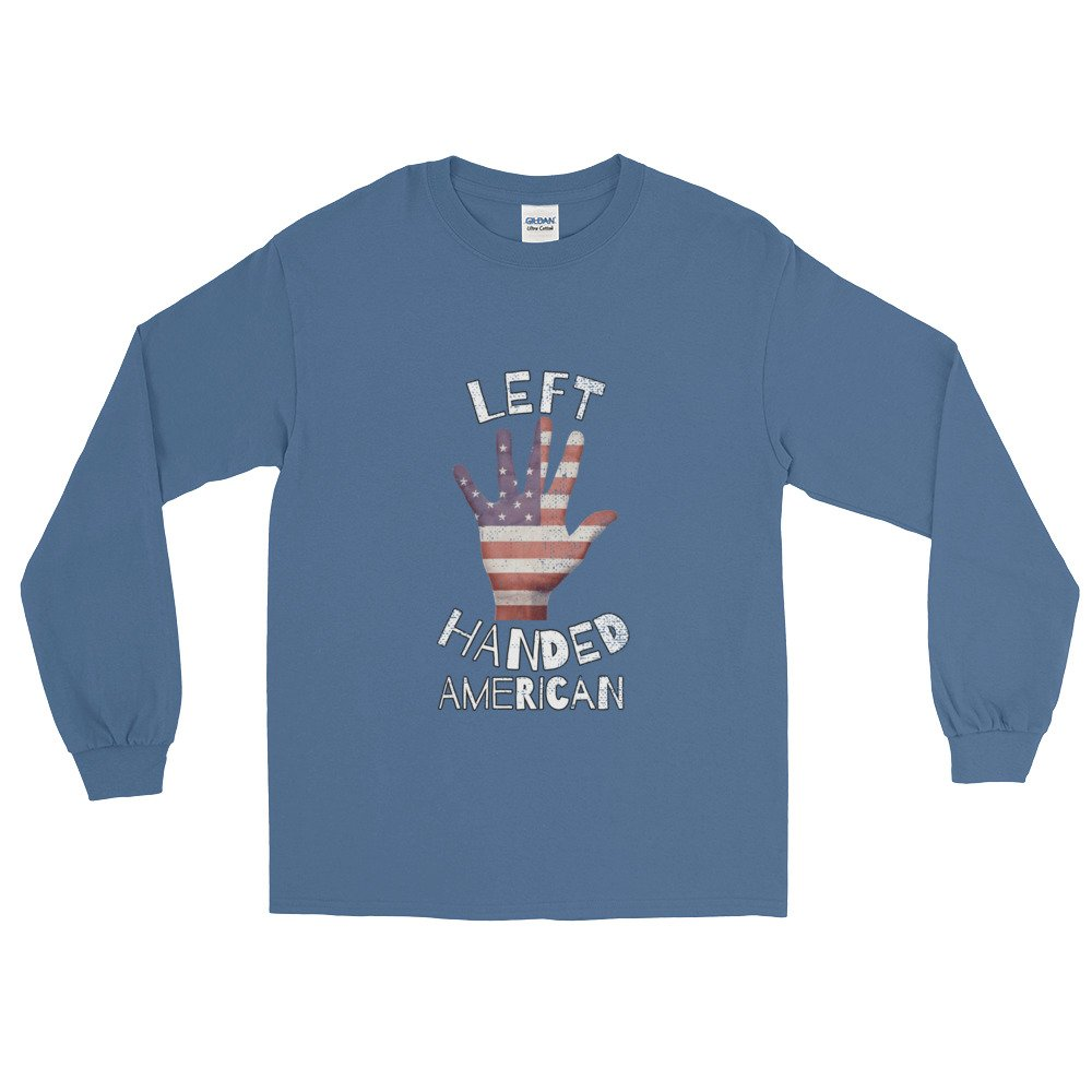 Left Handed American Long Sleeve T-Shirt