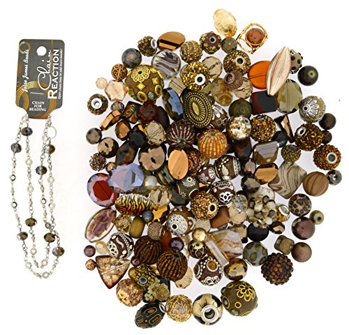 Jesse James Beads - Jesse James Beads Premium Brown Mix-Plus Free 18 inch Beaded Chain