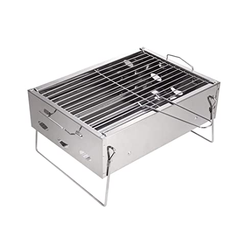 ppskl - Parrilla portátil de carbón al Aire Libre 3-5 para jardín o casa