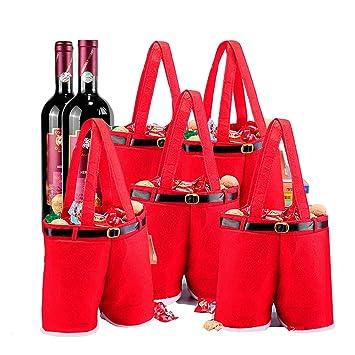 Amazon.com: MSQ Bolsas de Navidad para botella de vino ...