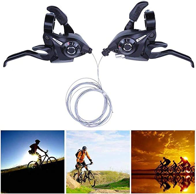 1 Pair Bicycle Shifter For 15//18//21 Thumb Gear Shifter Speed Shift Lever