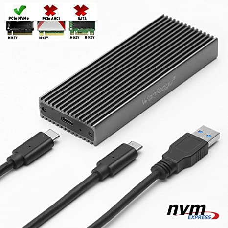 Wanfocyu Adaptador de Carcasa de Aluminio M.2 NVME SSD USB 3.1 ...