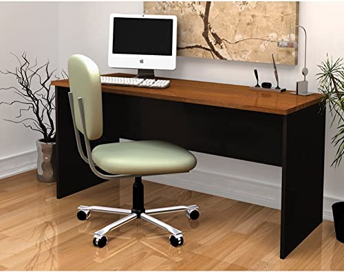 Desk in Brown and Black