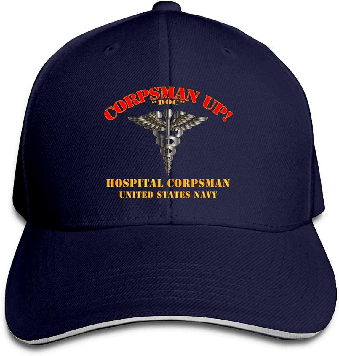 Navy Corpsman Up Doc Us Navy Unisex Adult Baseball Caps Adjustable Sandwich Caps Jeans Caps Adjustable Denim Trucker Cap