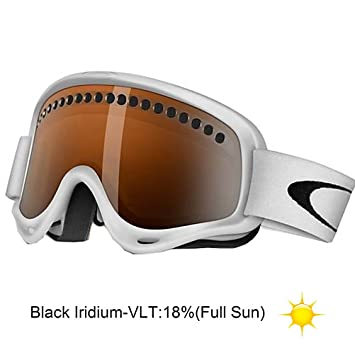 oakley black iridium goggles  Amazon.com : Oakley O-Frame Snow Goggles (Matte White Frame/Black ...