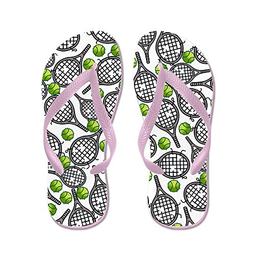 Cafepress Tennis - Flip Flops, Grappige String Sandalen, Strand Sandalen Roze