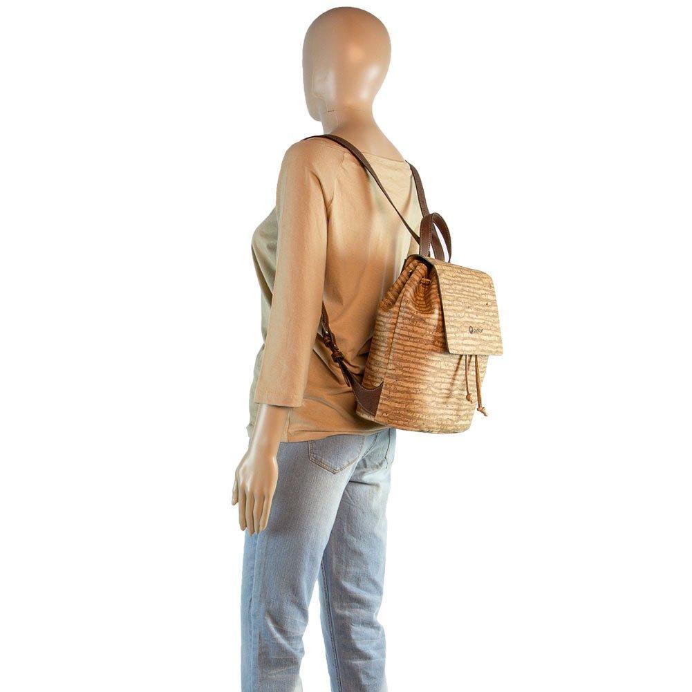 Corkor Cork Backpack - Vegan Handbag For Women Top Flap Back Pack Travel School Natural Zebra by Corkor (Image #8)