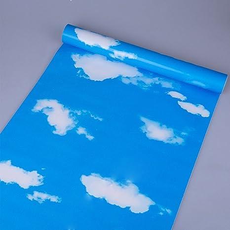 Amazon.com: simplelife4u Cielo Azul Color blanco Clound ...