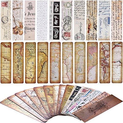 SATINIOR 60 Pieces Vintage Bookmarks Retro Expedition Paper