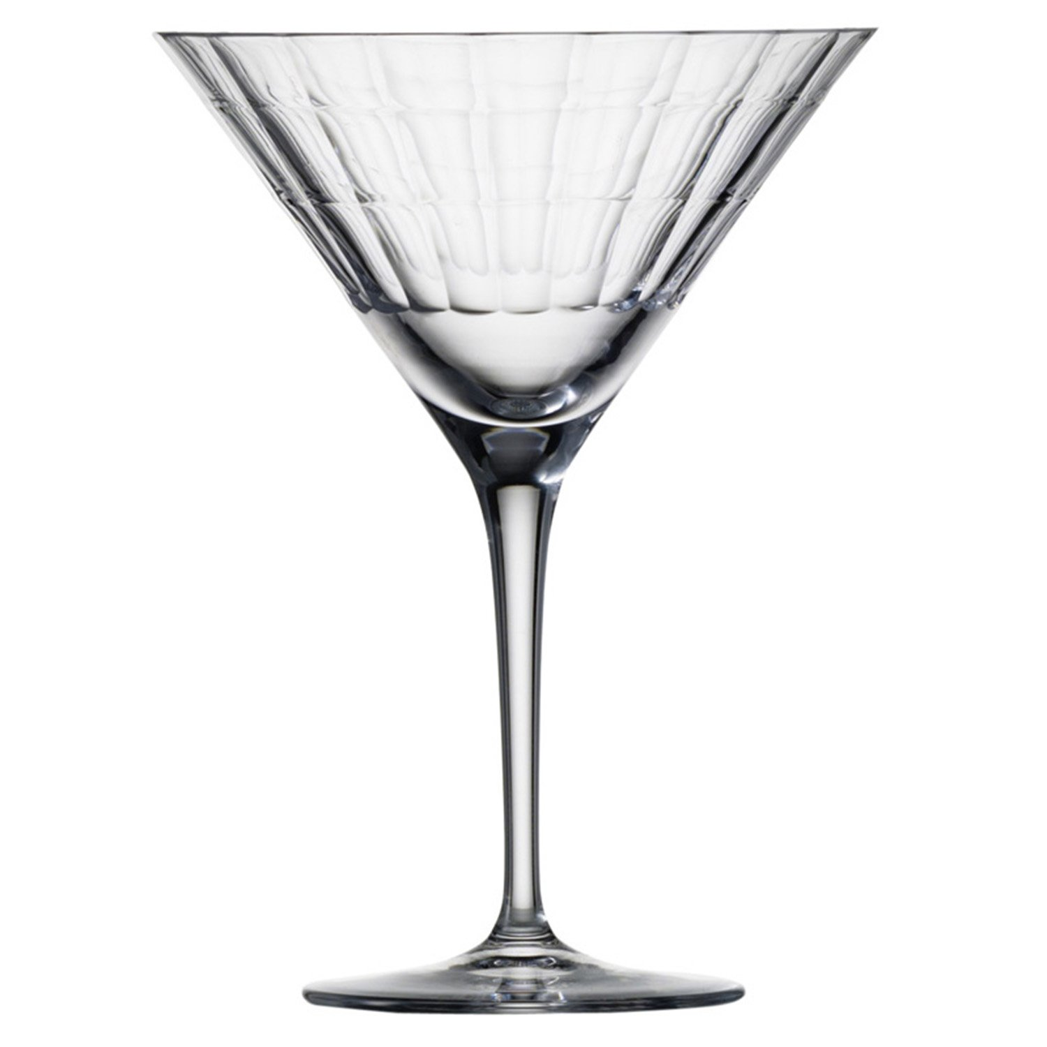 Zwiesel 1872 Charles Schumann Hommage Collection Carat Handmade Glass Martini Cocktail Glass, 10-Ounce, Set of 2