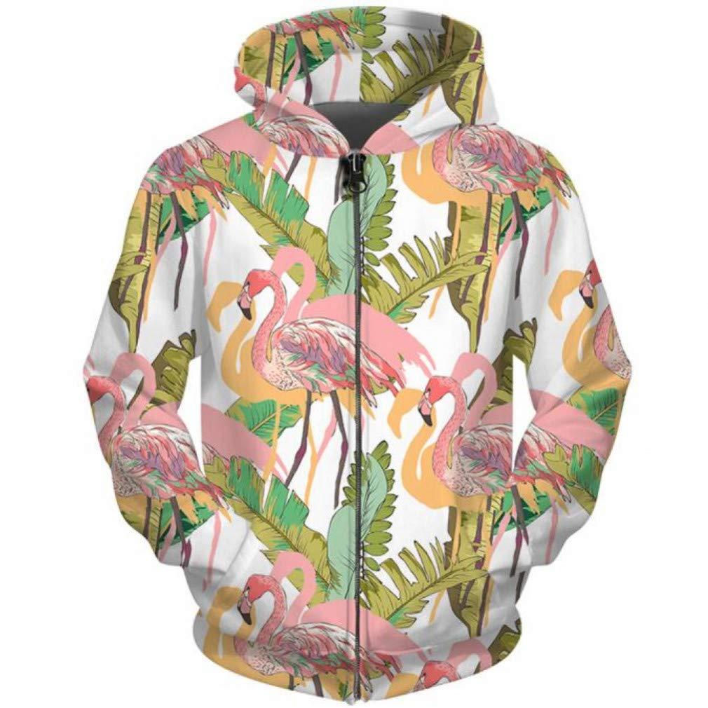 Snake beauty 3D Full Print Zip Up Hoodies Men Damens Mandarin Ente Vogel Sweatshirts Hip Hop Streetwear Unisex Tasche Reißverschluss Kapuze