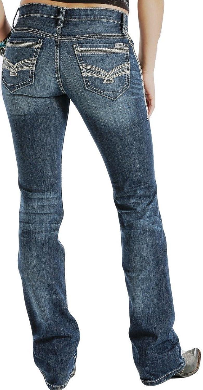 Cruel Girl Western Denim Jeans Womens Abby 19 Long Med Wash CB42154071