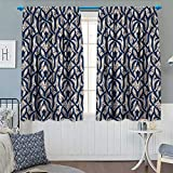 Best Eclipse Home Fashion Thermal Insulated Blackout Curtains Royal Blues - Chaneyhouse Gothic Blackout Window Curtain Floral Ornament Antique Review