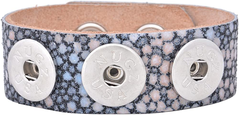 Nugz Jewelry Interchangeable Collection Embossed Stingray Bracelet Medium