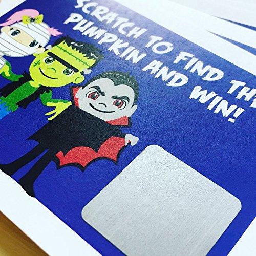 10 Piece Halloween Scratch Off Tickets
