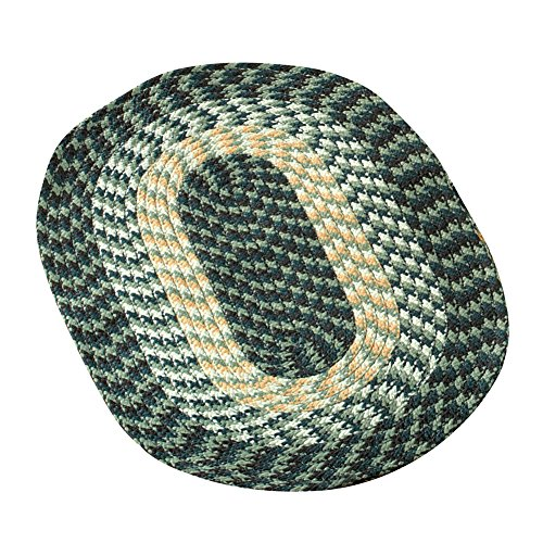 "Collections Etc Alpine Braided Accent Rugs, Green, 20"" X 30"""