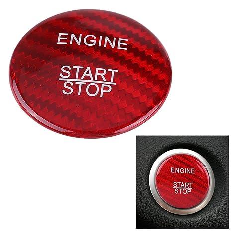 TOOGOO Kohle Faser Auto Start Stopp Taste Abdeckung Set F/ür F/ür Mercedes Benz A B C Glc Gla Cla Ml Gl Class W176 W246 W205 X253 X156 C117 Rot