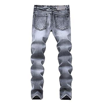 Weentop Pantalones elásticos Ajustados de Mezclilla Lavada ...