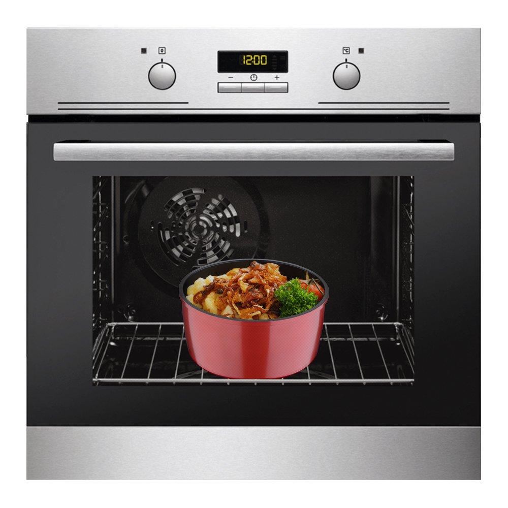 Set Click&Cook 5 Piezas, 3 sartenes y 1 cazo/Cacerola + Mango ...