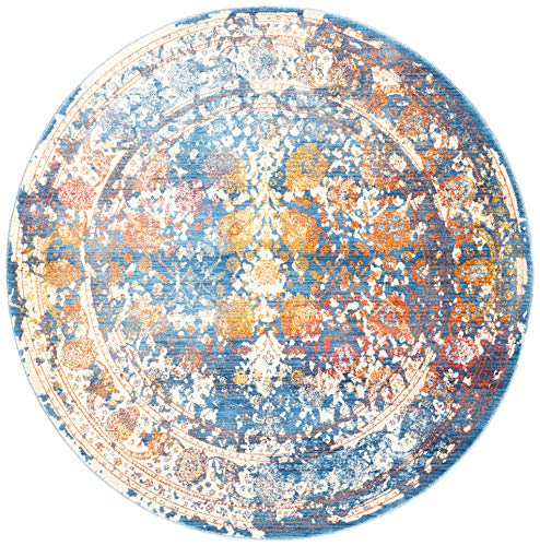 Safavieh Vintage Persian Collection VTP409K Turquoise and Multi Round Area Rug (5' in Diameter)