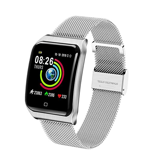 smart watch Reloj de Metal Resistente al Agua Reloj de monitoreo ...