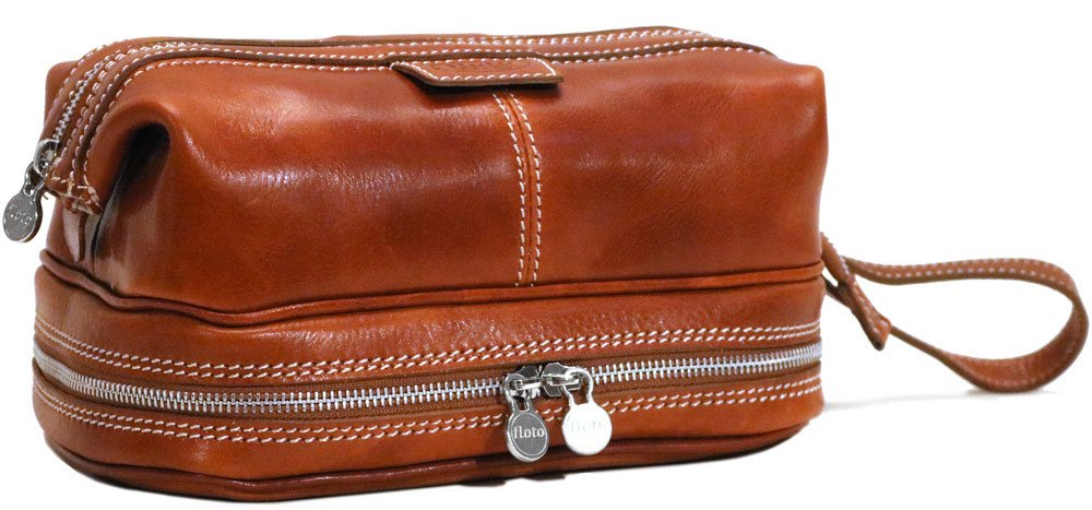 Positano Full Grain Leather Travel Dopp Kit