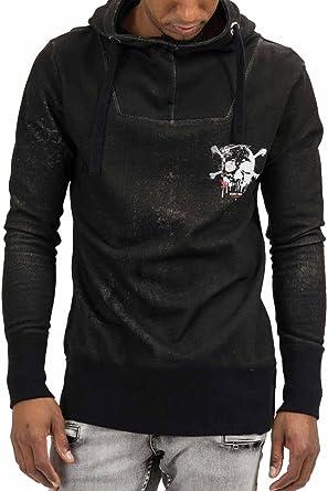 trueprodigy Casual Hombre Marca Sudadera Zip Estampado Ropa Retro Vintage Rock Vestir Moda con Capucha Manga Larga Slim Fit Designer Cool Urban Fashion ...