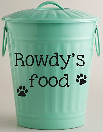 Personalized Dog Food Vinyl Decal Storage Container DecorPersonalizedDog  Food Storage DecalCustom Dogs Name DecalCONTAINER NOT INCLUDED