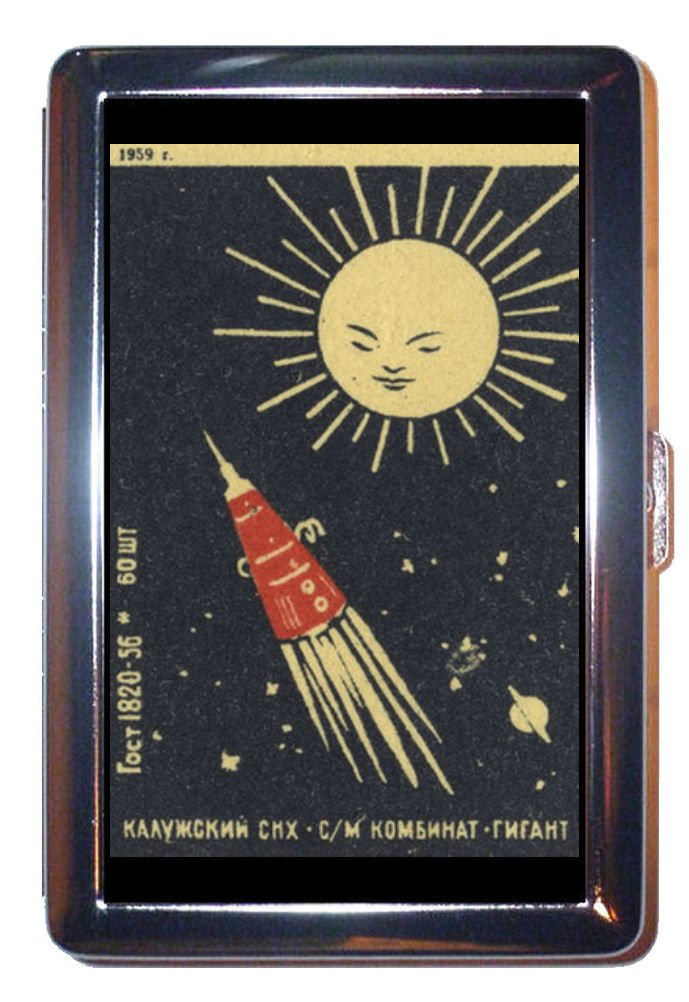 1959 Russia Satellite Space Stainless Steel ID or Cigarettes Case (King Size or 100mm)