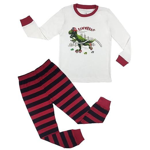 52df7ea79fe0 Amazon.com  YIPWIN Toddler Boys Pajamas Kids Dinosaur Sleepwear Pjs ...