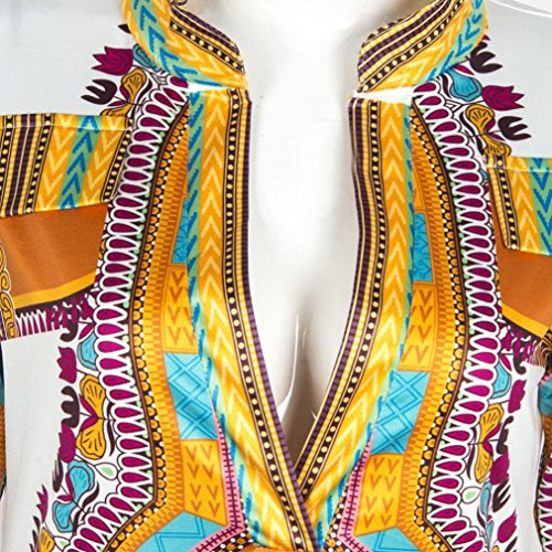 8475787098a BEAUTYVAN African Print Women Dress 2018 Women Boho Dress New Women Summer  Casual Deep V-