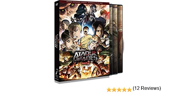 Ataque A Los Titanes Temporada 2 Episodios 1 A 12 DVD: Amazon.es: Animación, Tetsurou Araki, Animación: Cine y Series TV