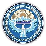 Kyrgyzstan Coat Of Arms Vinyl Decal Bumper Sticker 5'' X 5''