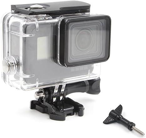 TELESIN impermeable buceo caso para GoPro Hero 5 /Hero 6, 45 m carcasa sumergible de repuesto, – Funda de buceo bajo el agua fotografía accesorios de la cámara: Amazon.es: Electrónica