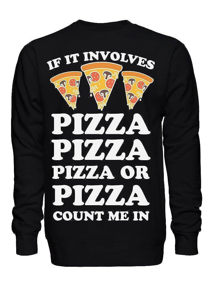 graphke If It Involves Pizza Count Me in Unisex Crew Neck Sweatshirt