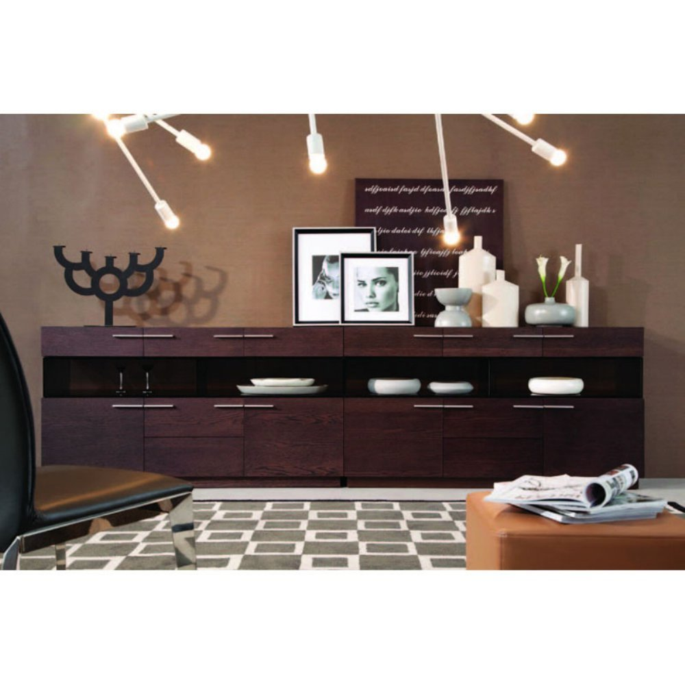 Modrest Daytona - Modern Brown Oak Buffet Brown Oak