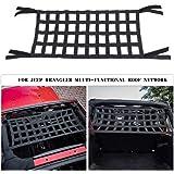 Mesh Cargo Net, Auto Roof Net Hammock for Jeep Wrangler YJ TJ JK JKU JL JLU 1987-2019