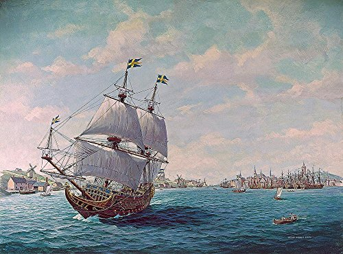 17th Century Warship (17th Century Sailing Warship Wallpaper Wall Mural - Self-Adhesive - Multiple Sizes - National Geographic Image from Magic Murals)