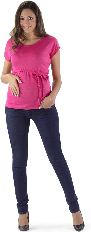 Lavaggio Basic Super Elastico Made in Italy Vero Denim MAMAJEANS Ischia Basic Fascia in Jersey Jeans Premaman Slim Fit