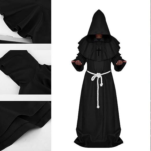 New_Soul Disfraz Medieval de Halloween, con Capucha, para Disfraz ...